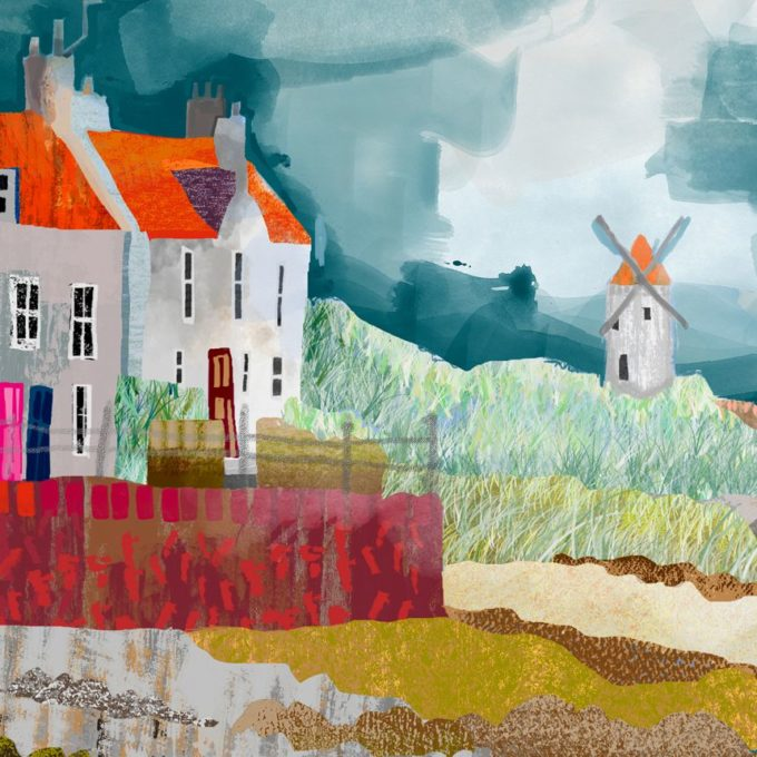 St Monans Windmill Print