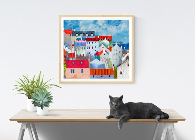 St Monans Rooftops Print