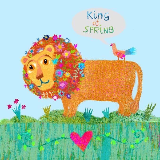 King of Spring Print